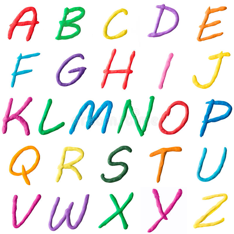 Photo collage of letters of the alphabet royalty free illustration