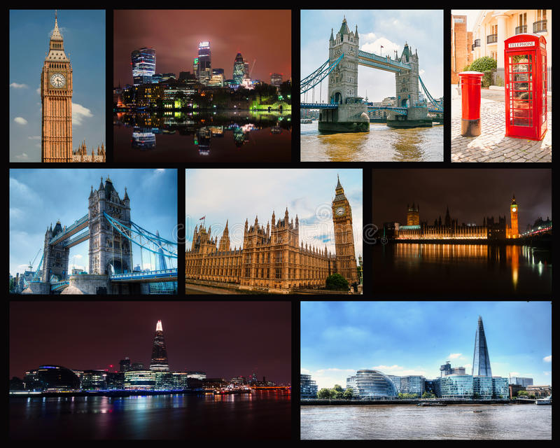 Photo collage of London stock photo
