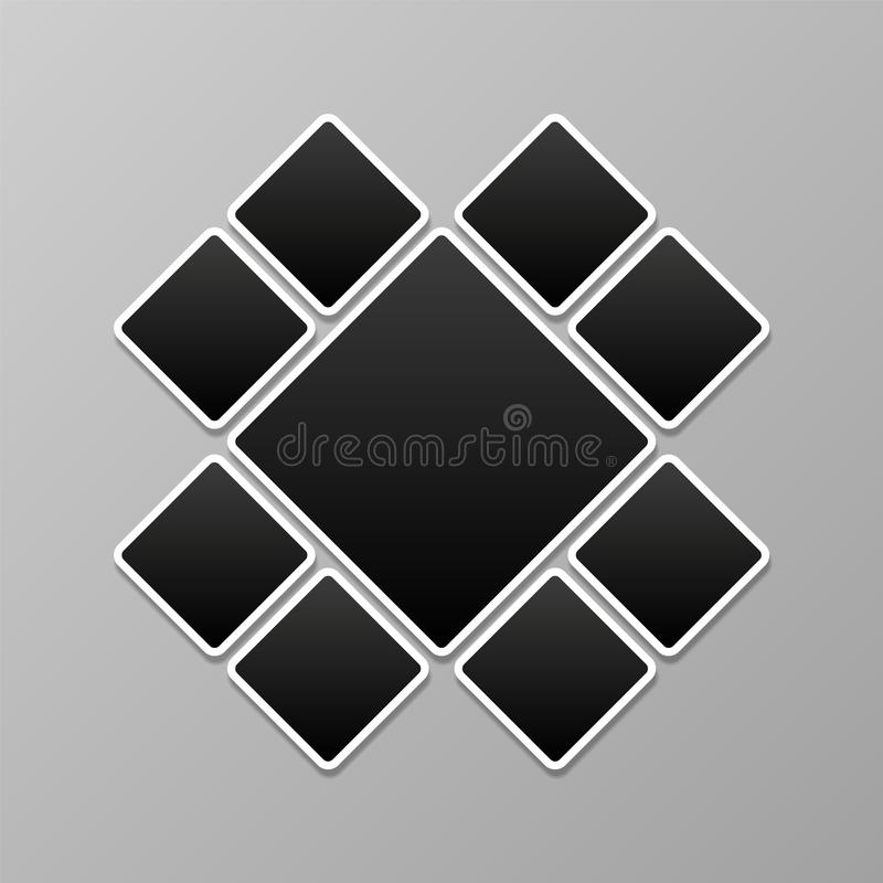 Photo collage. Picture frames template. Abstract image montage mockup. Photos vector background vector illustration