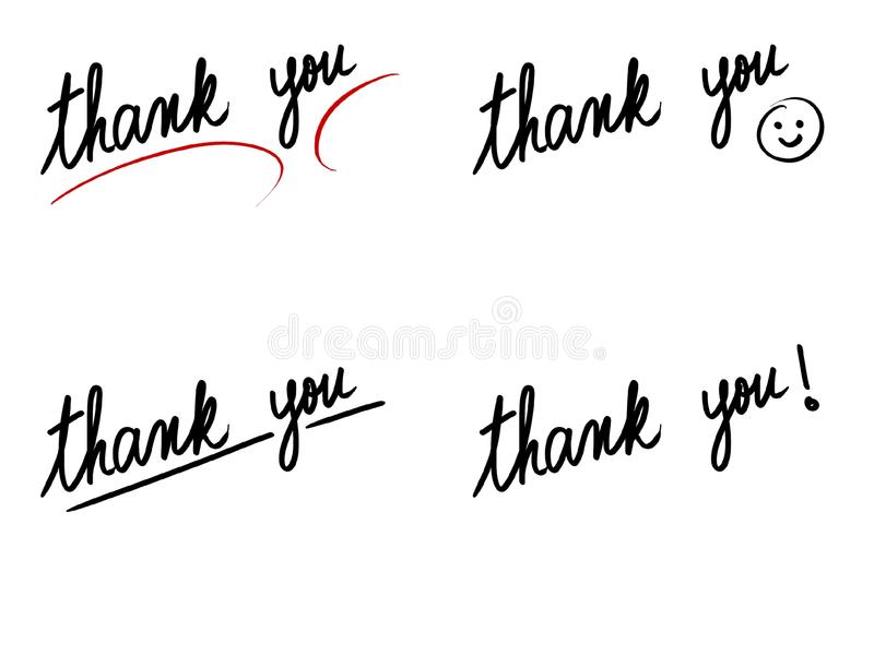 Photo collage with Thank you messages vector illustration