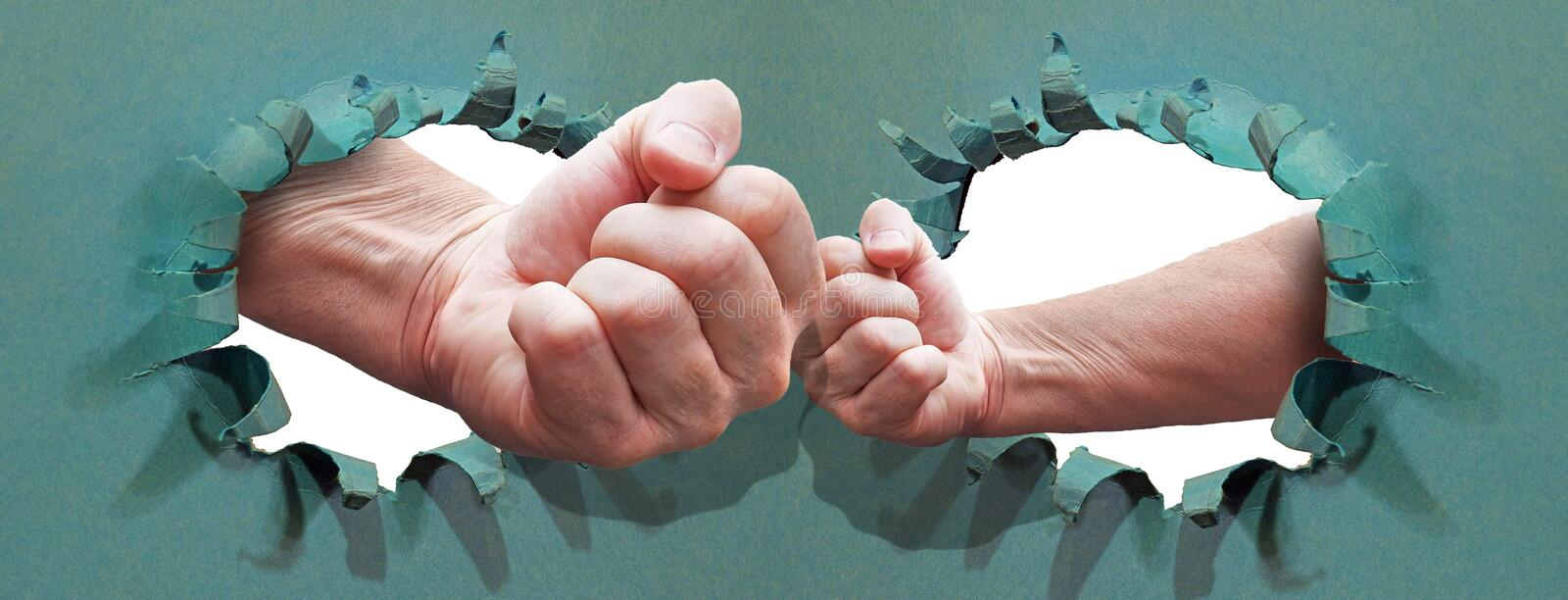 Power over competition fists business success future mighty stock photos