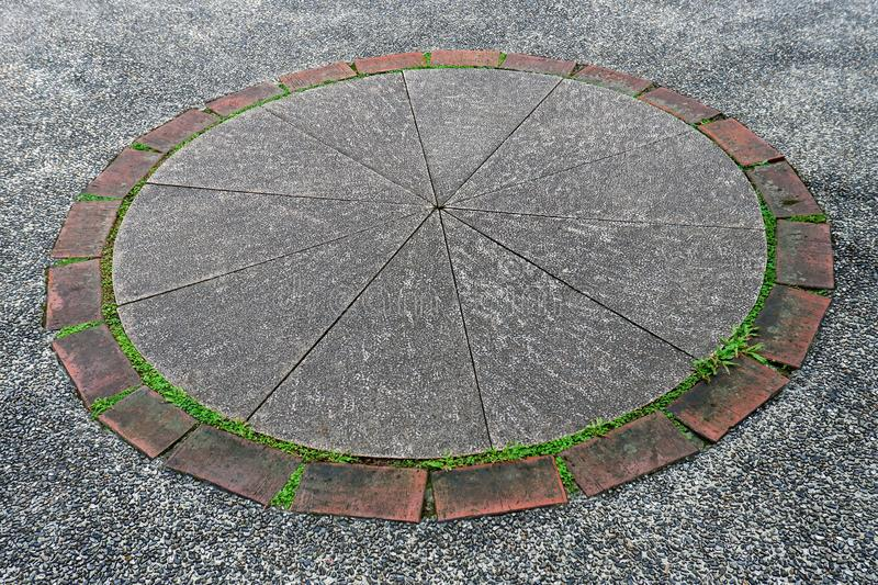 Photo of Concrete Pavers Circular Pattern stock images