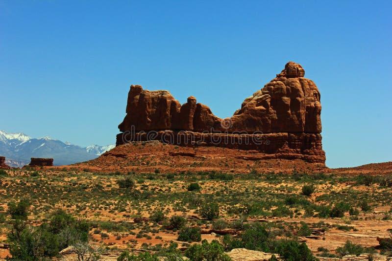 Photo courante de formation de roche rouge, stationnement national de voûtes photos libres de droits