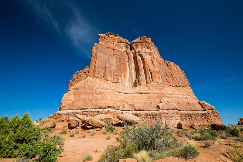 Photo courante de formation de roche rouge, stationnement national de voûtes photographie stock