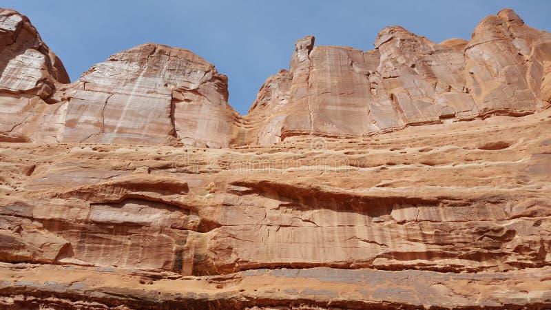 Photo courante de formation de roche rouge, stationnement national de voûtes photographie stock libre de droits