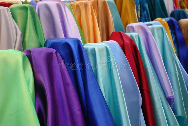 Photo courante de tissu coloré photographie stock