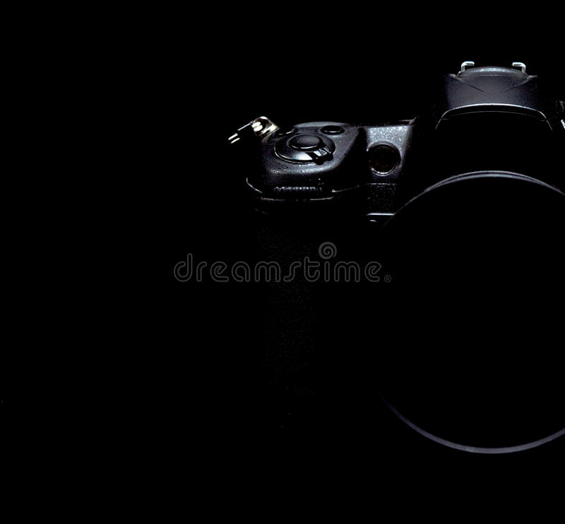 Photo courante discrète/image d'appareil-photo moderne professionnel de DSLR photographie stock libre de droits
