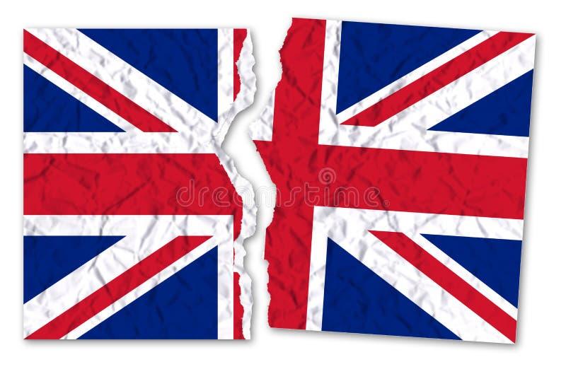 Photo déchirée d'un drapeau britannique - image de concept illustration de vecteur