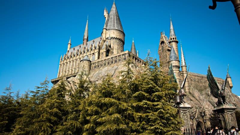 Photo d'école de Hogwarts image stock