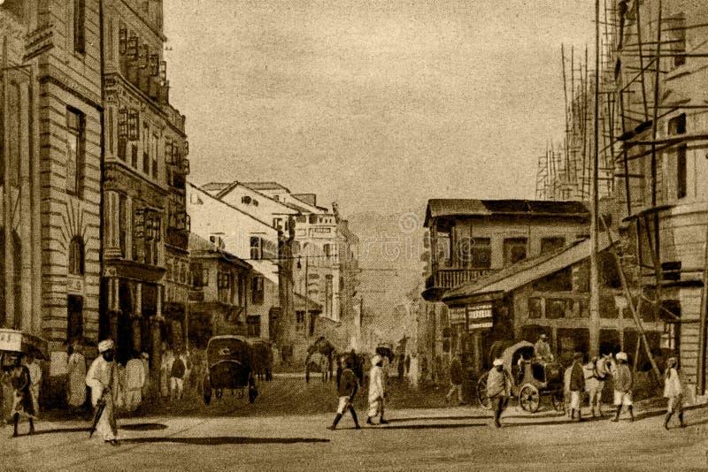 Photo d'époque Abdul rehman street Bombay now mumbai maharashtra photo stock