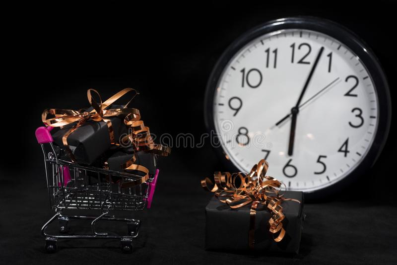 Photo d'abrégé sur Black Friday Joyeux Noël heureux Photo abstraite de achat de temps photographie stock