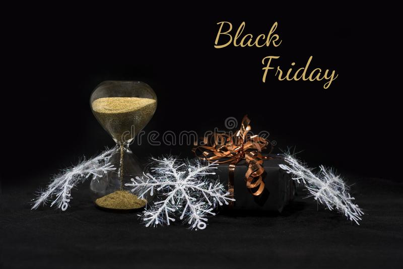 Photo d'abrégé sur Black Friday Joyeux Noël heureux Photo abstraite de achat de temps image libre de droits