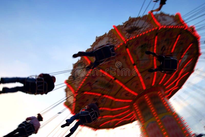 Photo d'action de carrousel image stock