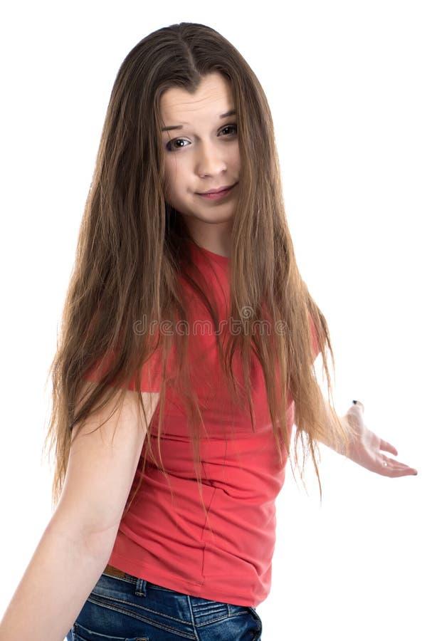 Photo d'adolescente confuse mignonne images libres de droits