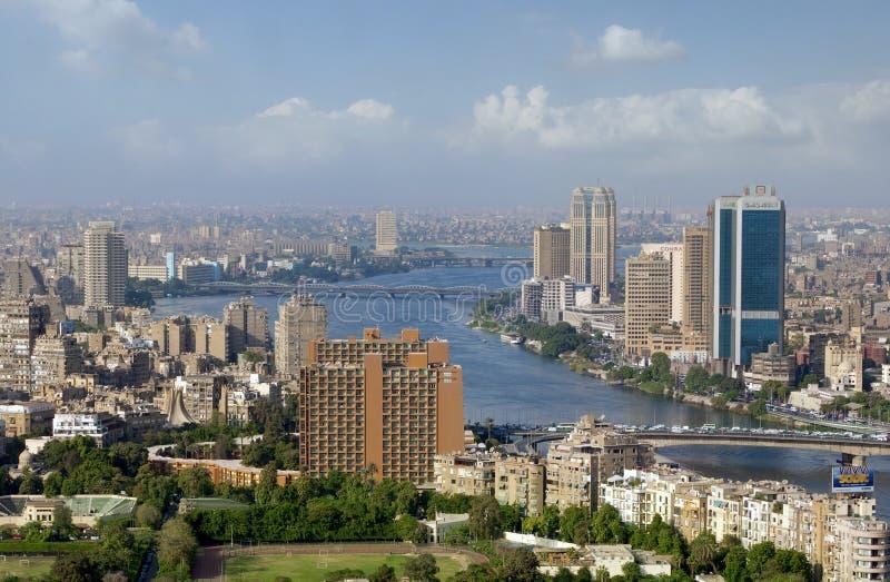 Photo d'horizon du Caire, Egypte images stock