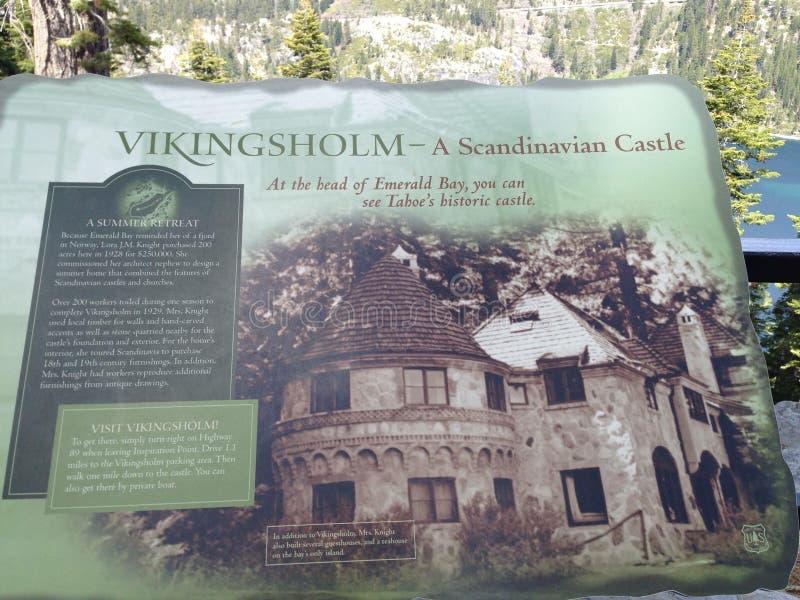 Photo d'information de château populaire dans le lac Tahoe la Californie photos stock