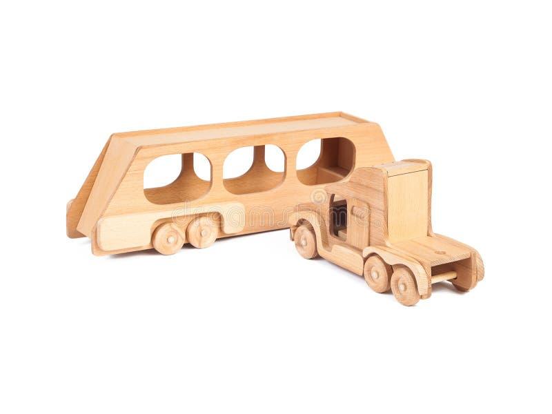 Photo d'un camion en bois de jouet images stock