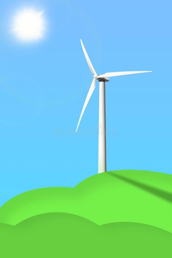 Photo d'un générateur de vent illustration stock