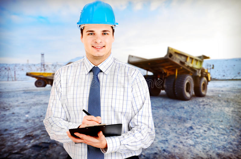Photo d'un ingénieur des mines photo stock