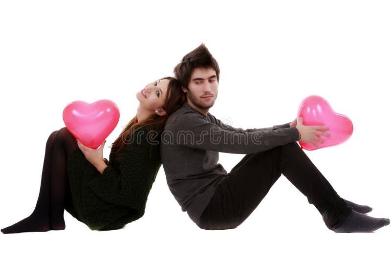 Photo d'un jeune couple, concept de Saint Valentin image libre de droits