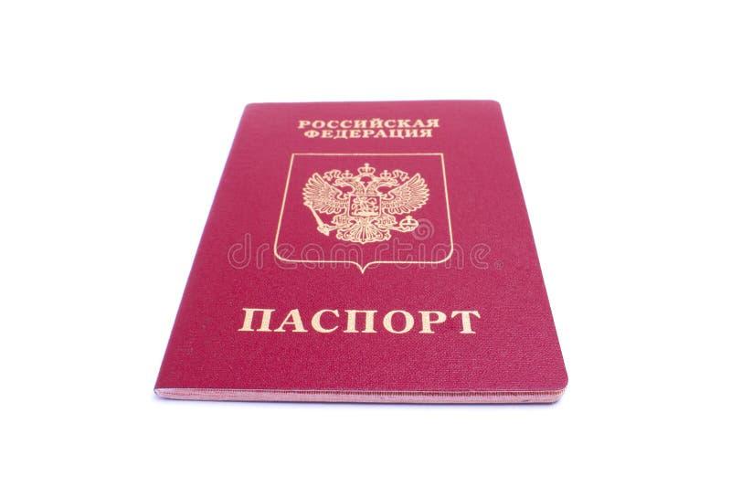 Photo d'un passeport rouge de la Fédération de Russie image stock