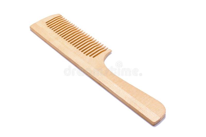 Photo d'un peigne en bois pour des cheveux photos stock