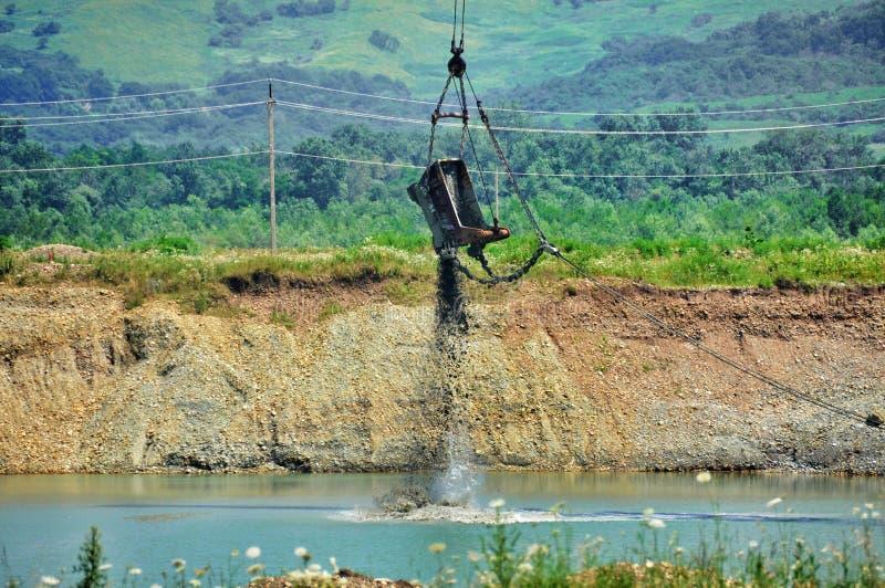 Photo d'une excavatrice géante de carrière images libres de droits