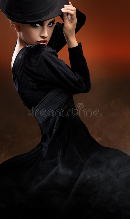 Photo of dancing lady royalty free stock photography