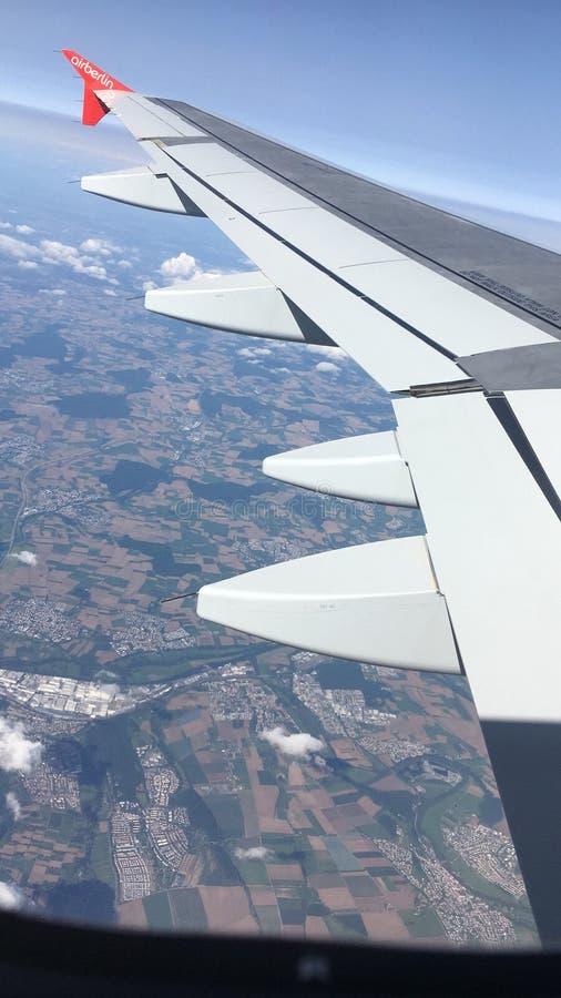Photo dans un avion photographie stock