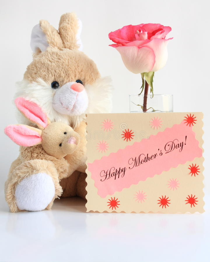 Photo de carte de jour de mères photographie stock