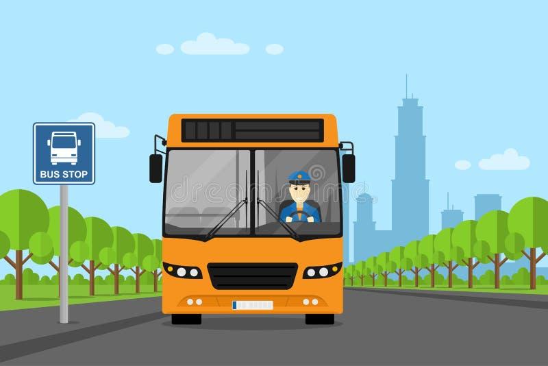Photo de chauffeur de bus illustration de vecteur