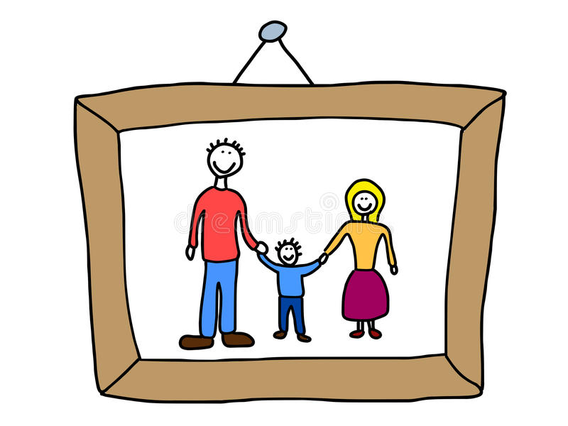 Photo de famille illustration stock