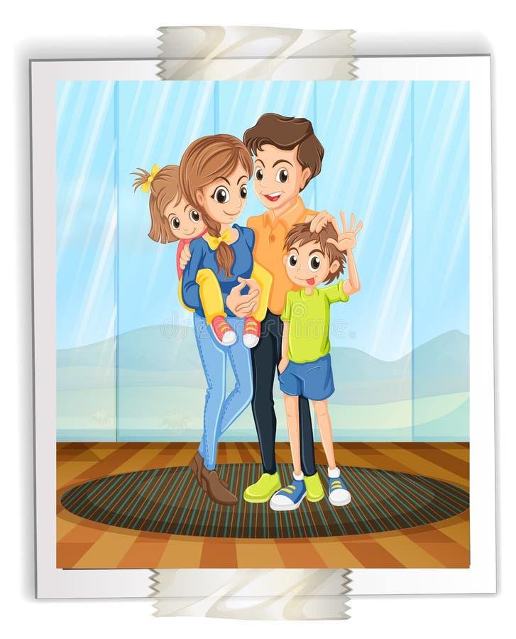 Photo de famille illustration de vecteur
