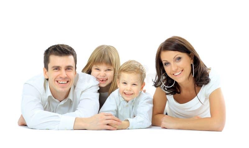 Photo de famille heureuse images stock