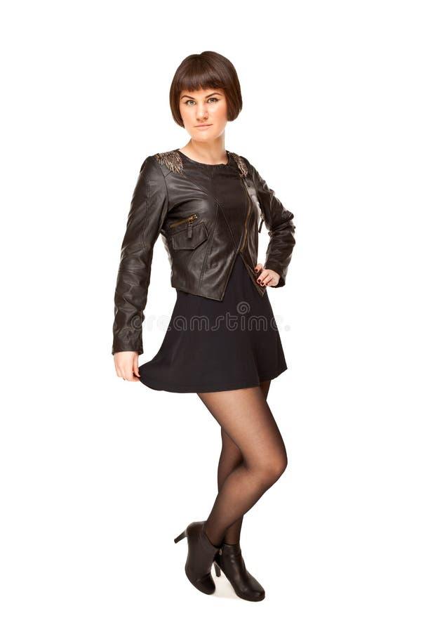 Photo de femme élégante dans le noir photos libres de droits