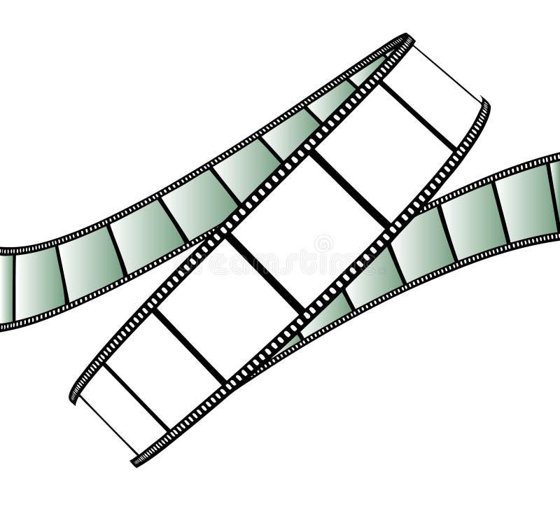 photo de film d'isolement par film illustration stock
