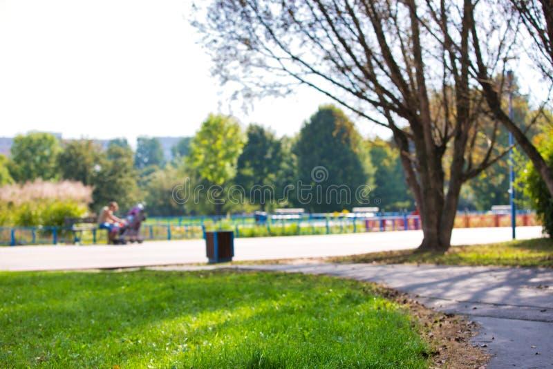 Photo de Footpath dans le parc image stock