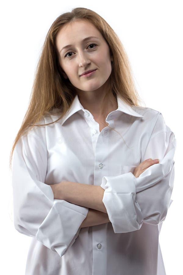 Photo de jeune femme avec des bras croisés photos stock