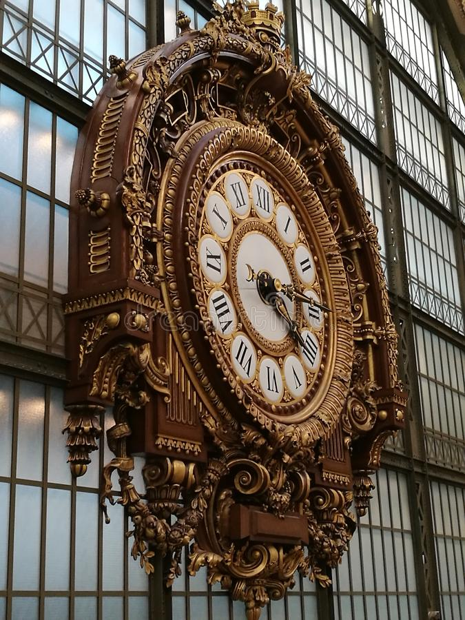Photo de l'horloge murale analogique Vintage image libre de droits