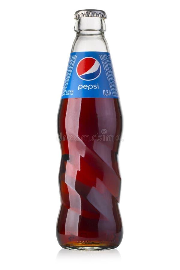 Photo de la bouteille en verre de Pepsi photos libres de droits