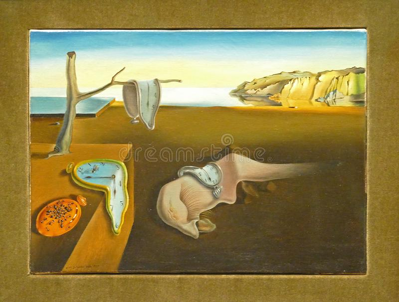 Photo de la peinture originale célèbre : ` La persistance du ` de mémoire peinte par Salvador Dali photo stock