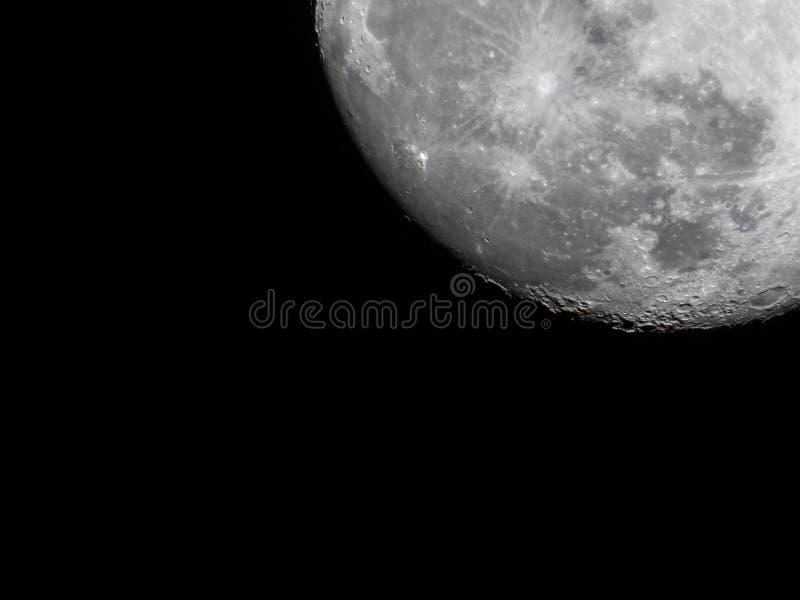 Photo de la prise de lune 17 02 2019 photographie stock