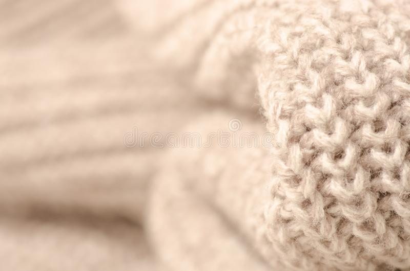 Photo de macro de tissu de laine image libre de droits