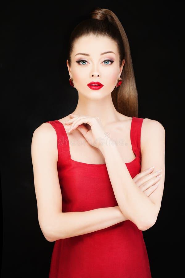 Photo de mode de jeune beau Woman modèle image stock