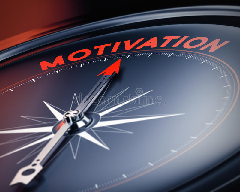 Photo de motivation, concept positif de motivation illustration libre de droits