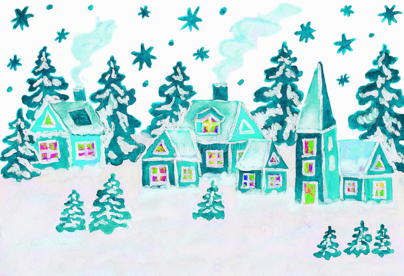 Photo de Noël dans des couleurs bleues illustration de vecteur