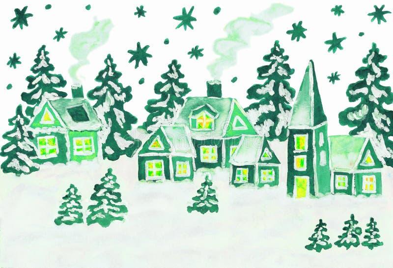 Photo de Noël dans des couleurs vertes illustration libre de droits
