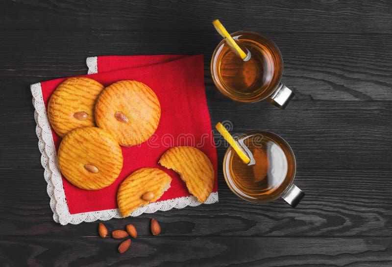 Photo de nourriture de biscuits d'amandes images libres de droits