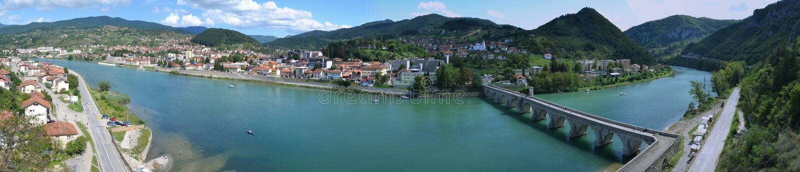 Photo de panorama d'egrad de ¡ de ViÅ, Bosnie-Hercegovine photo libre de droits