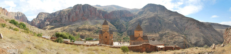 Photo de panorama de monsatery de Noravank image libre de droits